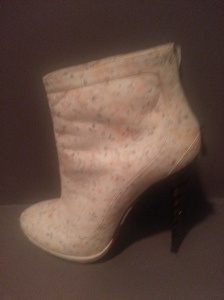 Nina Ricci floral ankle booties