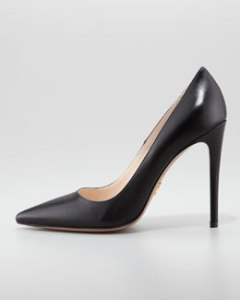 Prada Capretto Leather ponted toe $650