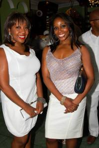 Sheila D's White party. Style star sisters, Vanessa and Natasha