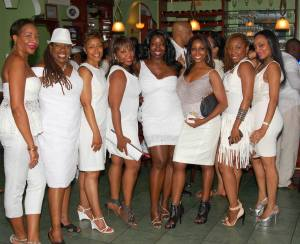 Lovely ladies who attended Sheila D's White party