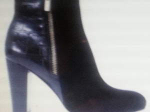 Stacked heel boots