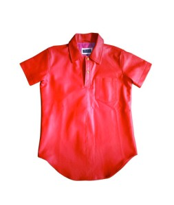 PRSVR Red Leather shirt