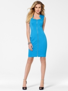Blue Zip Front Dress $188 Cachet