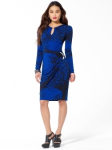 Cobalt animal Print Wrap Dress $158 Cachet