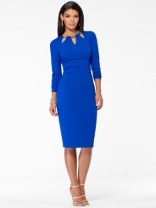 Cobalt Cut Out Jacquard Sheath Dress $79 Cachet