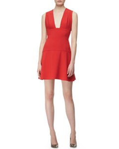 Thakoon Sleeveless Plunging Open Front $490 Neimans