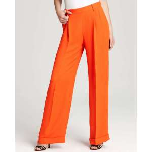 Orange wide leg pants